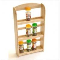 Wholesale 3 Tier Wood Wooden Herb Herbs Jar Holder Spice Rack Stand Kitchen Wall Mounted from china suppliers