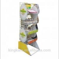Wholesale KingKara KASR217 wood tray stand with folding poster stand for bakery showcase from china suppliers