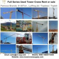 Buy cheap Tower Crane Rent MCT85 F5 Tower Crane Lease Rent Hire from wholesalers