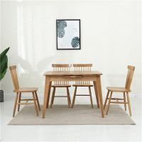Buy cheap Retractable folding solid wood dining table and chair combination Small apartment from wholesalers