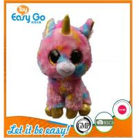 Buy cheap Customized OEKO colorful big eyes unicorn plush toy from wholesalers