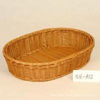 Buy cheap Oval Plastic Rattan Storage Basket from wholesalers