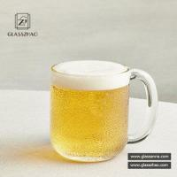 Buy cheap Straight Transparent Handmade Glass Beer Stein from wholesalers