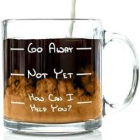 Buy cheap Go Away Funny Glass Coffee Mug 13 Oz - Unique Christmas Gift for Men & Women from wholesalers