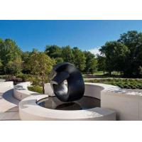 Buy cheap Black Painted Modern Abstract Stainless Steel Outdoor Sculpture Available Various Size from wholesalers