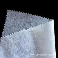 Buy cheap Enzyme washable non woven shirt collar fusible interlining from wholesalers