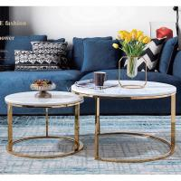 Buy cheap Coffee Table Marble coffee table gold base from wholesalers