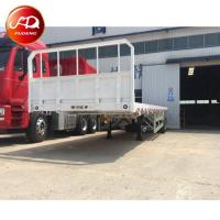 Buy cheap 2 axles 40ft flatbed container semi trailers with front board from wholesalers
