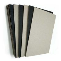 Buy cheap Solid Grade A C1S 1.9mm Black Paper Laminated Paperboard Grey Back from wholesalers