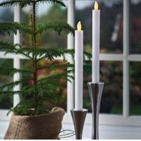 Buy cheap Flickering Flameless Wax Led Dinner Taper Candle from wholesalers