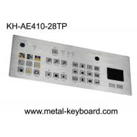 Buy cheap Touchpad 28 Keys Industrial Metal Keyboard , flat matrix / squre buttons from wholesalers