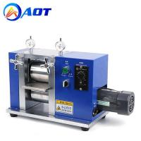 Buy cheap Electric Battery Electrode Sheets Calendering Machine Lab Roller Press product