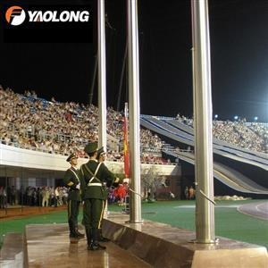 Buy cheap 40ft Electric Operated Internal Aluminum Flagpole from wholesalers