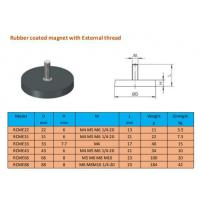 Buy cheap D66 black rubber coated pot magnet with external thread from wholesalers
