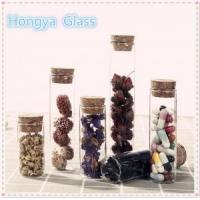 Buy cheap Flat bottom borosilicate glass test tube with cork lid for flower tea packaging from wholesalers