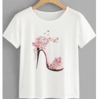 Wholesale New Trendy T Shirt Screen Printed Organic Cotton in White SD6005 from china suppliers