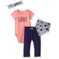 Wholesale Touched by Nature Baby Organic Layette Set 4-Piece, Daisy, 0-3 Months from china suppliers