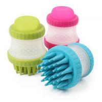 Buy cheap Factory price silicone Cleaning brush pet Bath massager Brush soap liquid dispensing dish brush from wholesalers