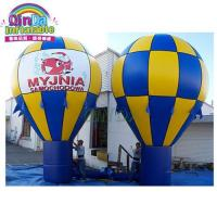 Buy cheap Cheap price amusement rides advertising inflatable hot air ground balloon from wholesalers