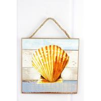 Buy cheap 8 x 8 Scallop Shell Wood Wall Art from wholesalers