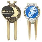 Buy cheap Personalized Alloy Die Cast Golf Divot Tool Pitch Fork Repairer Wholesale, Custom Make, MOQ 50pcs from wholesalers