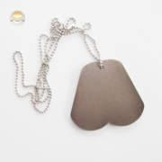 Dog Bone Shaped Metal Dog Tag with Ball Chain, Enamel Metal Dog Tag with Text Engraved