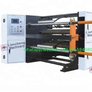 Quality 1300R High-speed Slitting Machine slipped air shafts 800mm unwind 500mm paper for sale