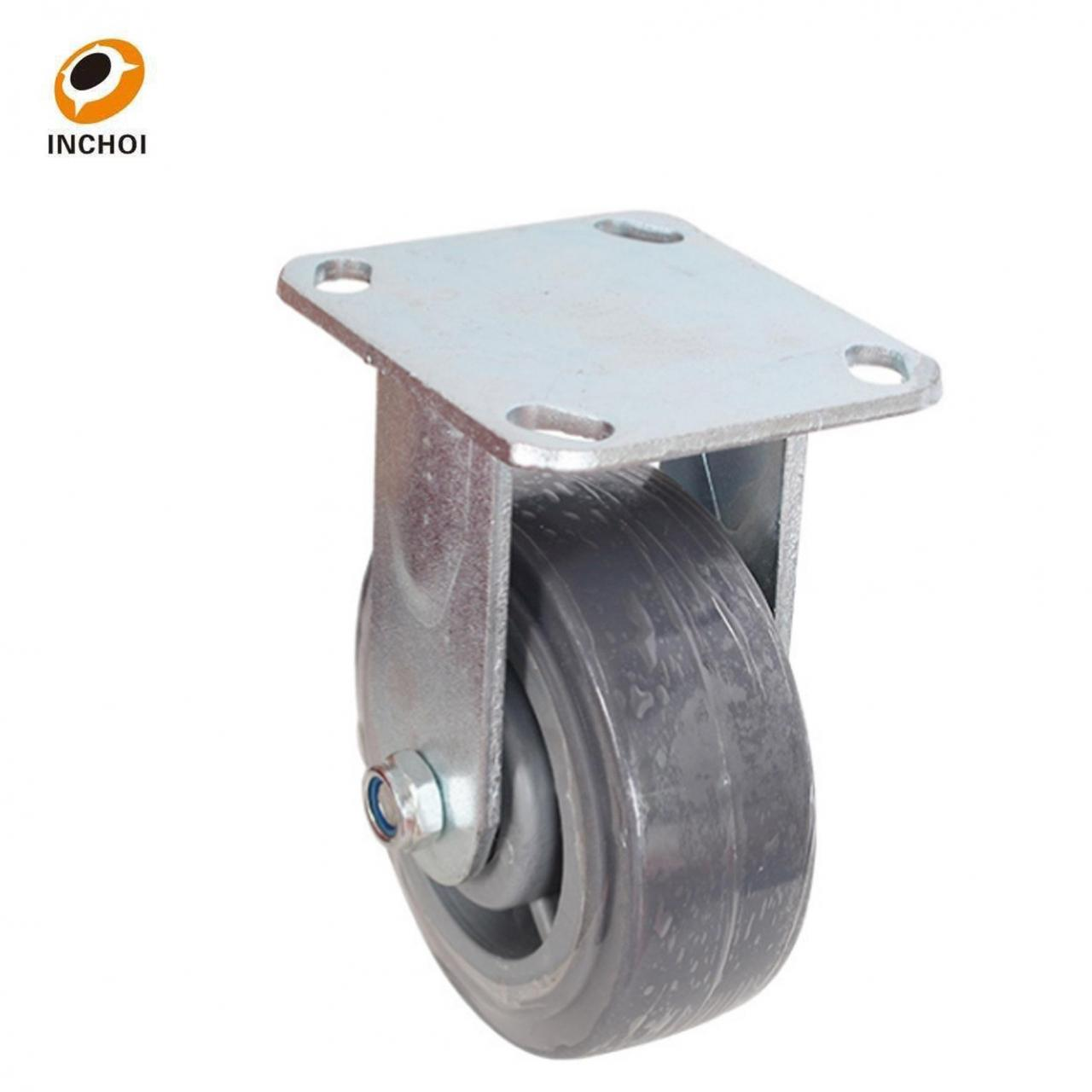 Wholesale Medium duty caster rigid grey rubber silent wheel from china suppliers