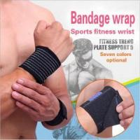 Buy cheap Men sweat fitness wrist band brace support from wholesalers