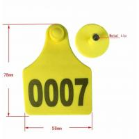 Buy cheap Ear tag cattle ear tag 78*58mm from wholesalers