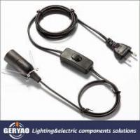 Buy cheap wholesale European E14 lamp socket cord set with in line switch from wholesalers