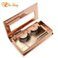 Buy cheap Wholesale Private Label Mink Eye Lashes fake eyelashes mink lashes with Custom Boxes from wholesalers