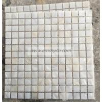 Buy cheap Square White Mother of Pearl Shell Mosaic Tile on mesh from wholesalers