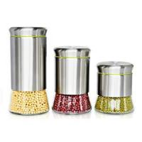 Wholesale Kitchenware Stainless steel and glass storage jars from china suppliers