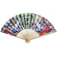 Wholesale Transfer Printed Pattern Parrot Paper Folding Fans for Souvenir and Promotion from china suppliers