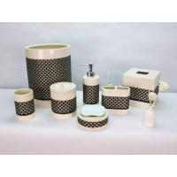 CEBR-170001 Ceramic With Fabric Veneers Bathroom Set