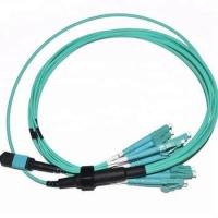 Wholesale Standard loss OM3 and OM4 MPO-LC duplex Fiber breakout cables from china suppliers