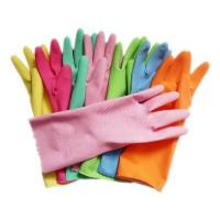Buy cheap Flocklined Household Kichen Colored Latex Glove Printed Logo from wholesalers