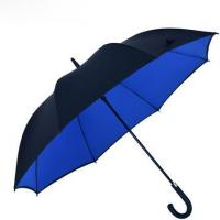 Buy cheap Straight umbrellas double layers crook handle automatic open straight umbrella from wholesalers