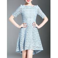 Buy cheap Dresses Crochet Hollow Out High Low Dress from wholesalers