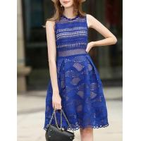 Buy cheap Dresses Crochet Hollow Out Mesh Dress from wholesalers