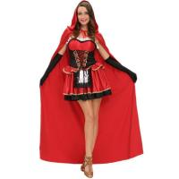 Buy cheap Drummond Halloween Cosplay Night Hooded Cape Little Red Riding Hood Stage Three-piece Suit from wholesalers