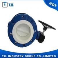 Buy cheap Full Lining PTFE Double Flange Center Line Butterfly Valve DN100 from wholesalers