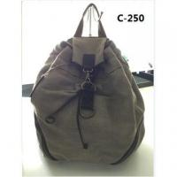 Buy cheap Guangzhou Suppliers Designer Sailcloth Canvas Backpack Bag (C-250) from wholesalers
