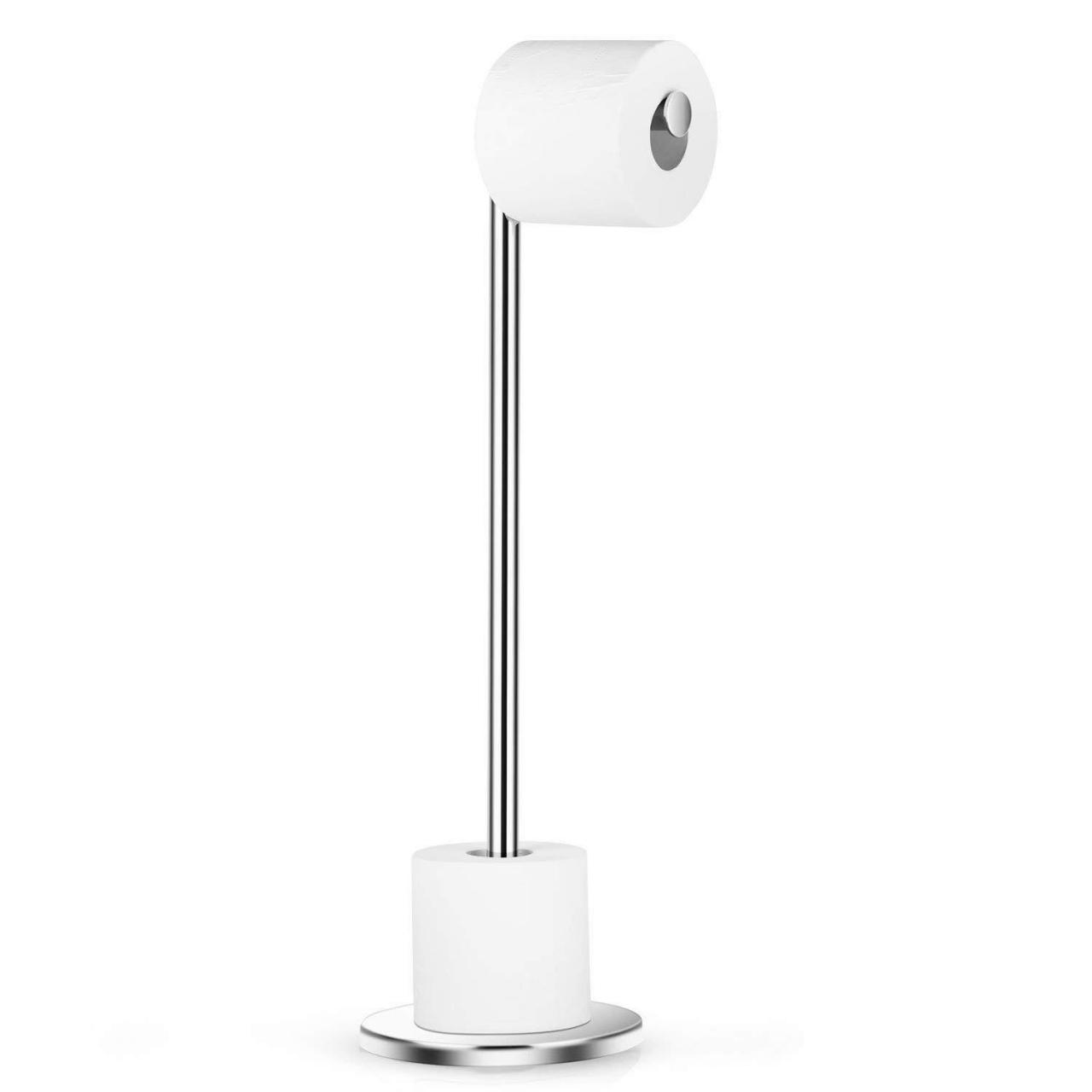 Wholesale Dailyart Stainless Steel Toilet Paper Holder Free Standing with Reserve Tissu06 from china suppliers