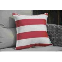 Buy cheap Pillow-5 Red and White Striped Square Throw Pillow Case from wholesalers