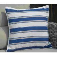 Buy cheap Pillow-9 Patio Sofa Blue and and White Striped Square Throw Pillow Case from wholesalers