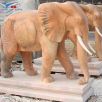 Buy cheap Cheap sunset red marble Large Elephant Gaeden Statues from wholesalers
