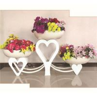 Buy cheap White Heart Art Iron Planter Stands from wholesalers