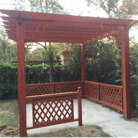 Buy cheap Woodgrain Metal Home Garden Pergola from wholesalers
